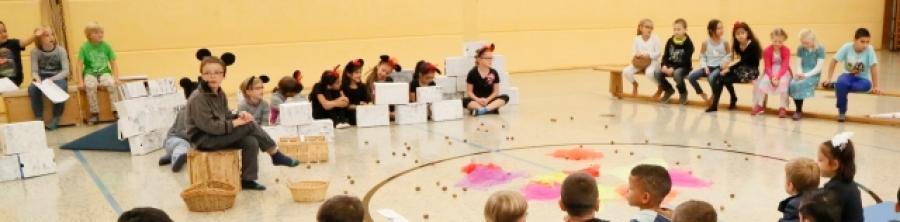 Mit einer kleinen Einschulungsfeier begrüßte die Goetheschule ihre neuen Erstklässler
