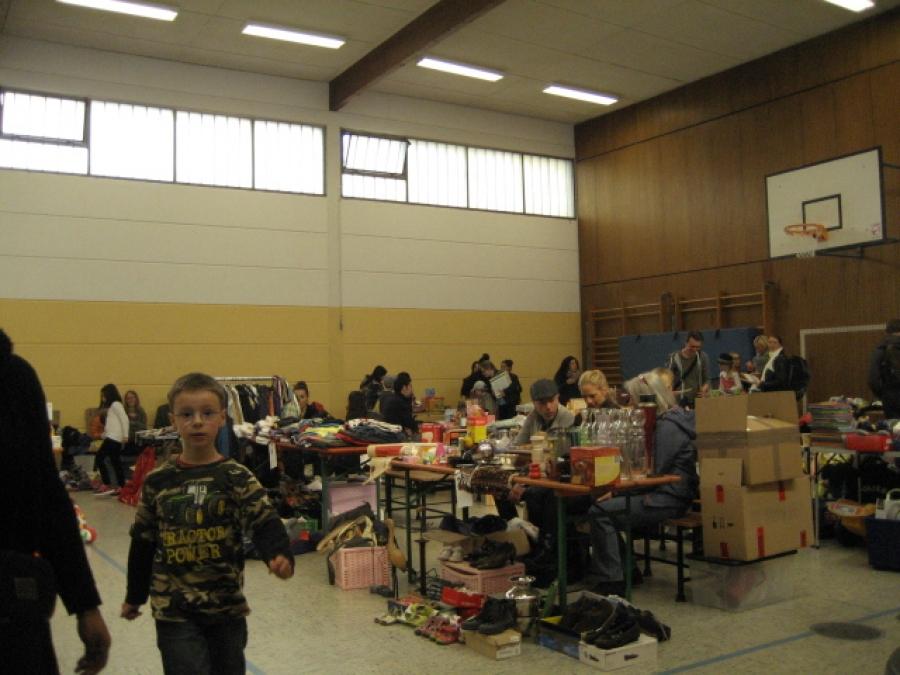 Der Flohmarkt in der Goetheschule war gut besucht