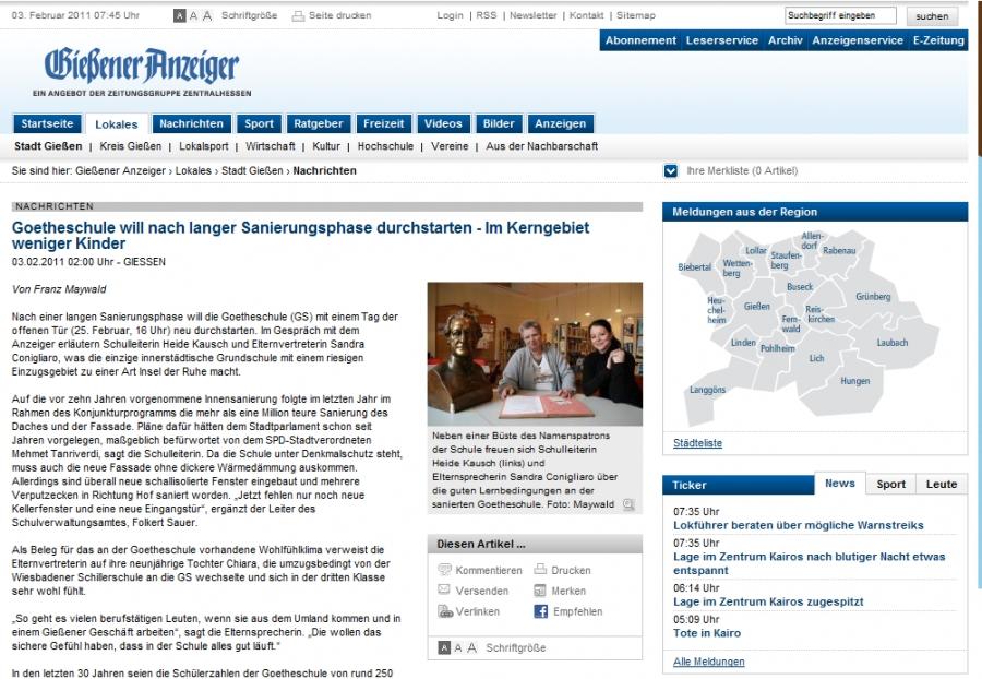 Giessener Anzeiger vom 03.02.2011