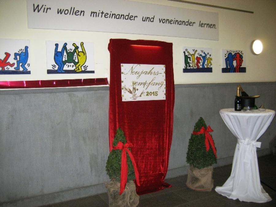 Gemütlicher Neujahrsempfang 2015 in der Goetheschule