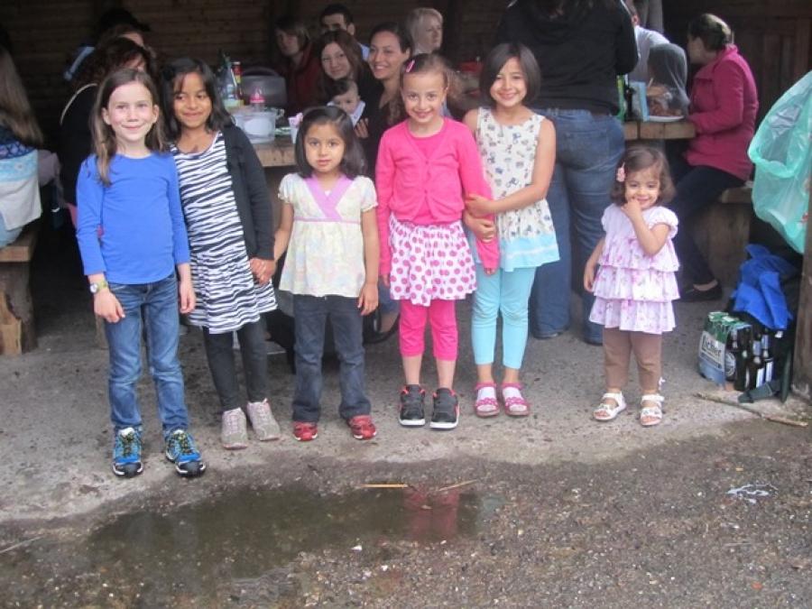 Grillfest der Klassen 1a und 1b auf dem Schiffenberg am 28.06.2014