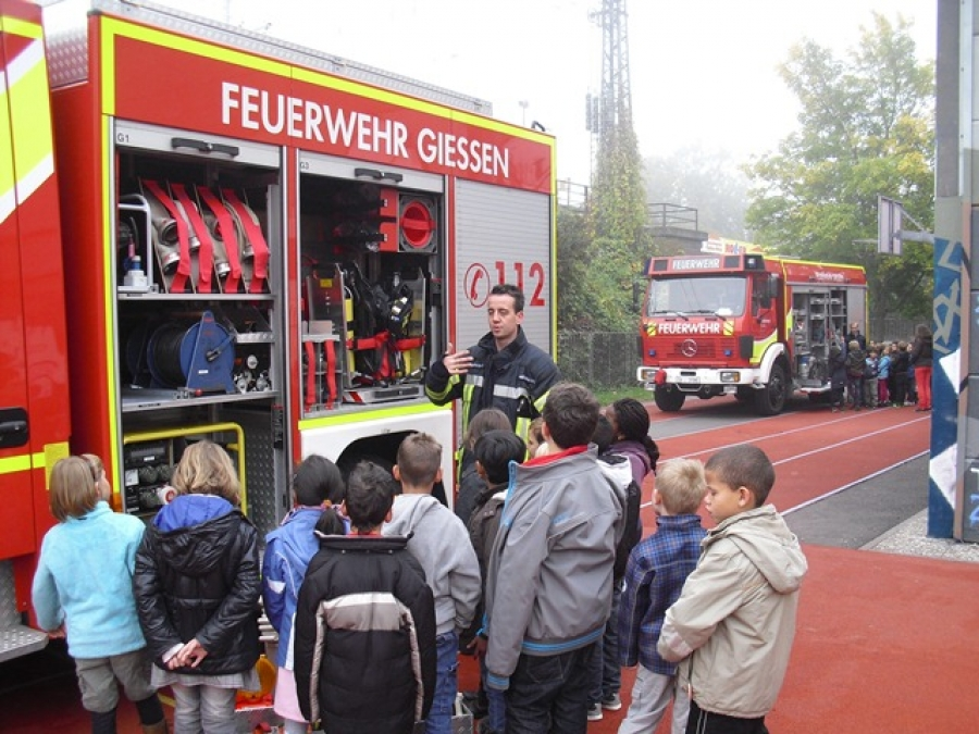 Feuerwehr in der Goetheschule
