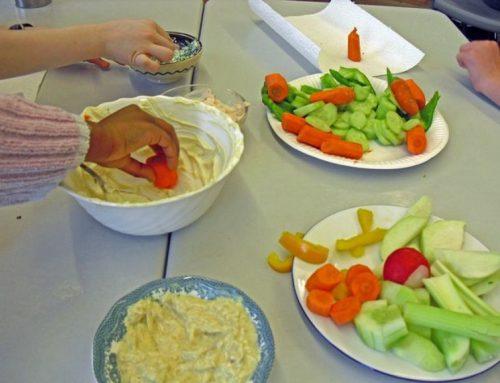Gemüse-Dipp Apfel-Curry-Soße