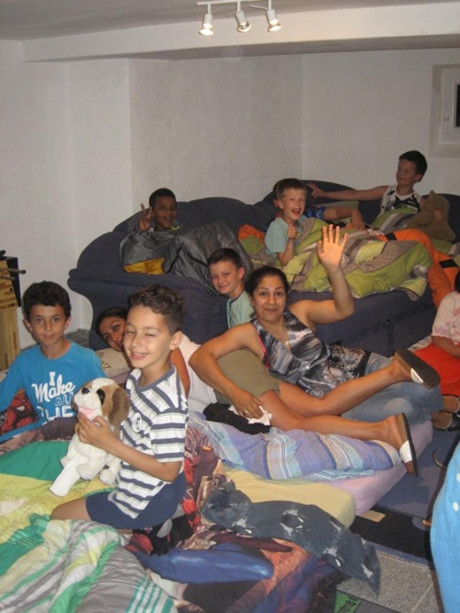 Übernachtung der Klasse 4a in Wieseck